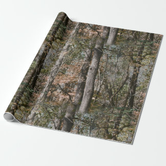 Forest Tree Camo Camouflage Nature Hunting/Fishing Gift Wrap Paper