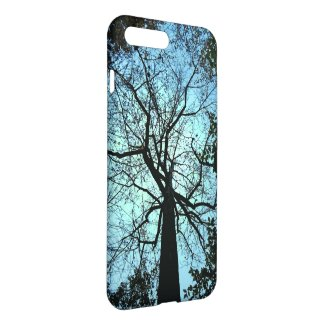 Forest Tree in Black and Blue iPhone 7 Plus Case