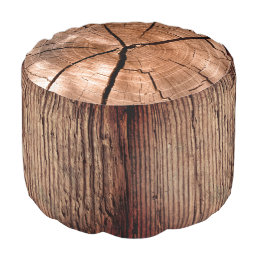 Forest tree trunk stump pouf
