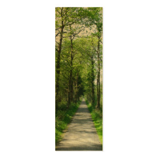 Forest Trees and Path Bookmarks Cards