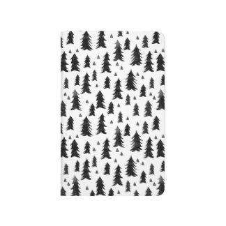 Forest Trees / Black White Minimal / Andrea Lauren Journal