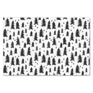 Forest Trees / Black White Minimal / Andrea Lauren Tissue Paper