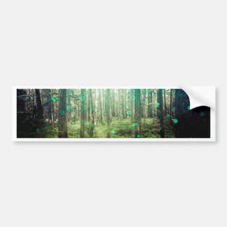 Forest Trees - In the Woods Pattern Bumper Sticker