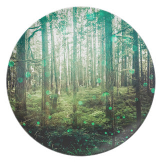 Forest Trees - In the Woods Pattern Dinner Plate