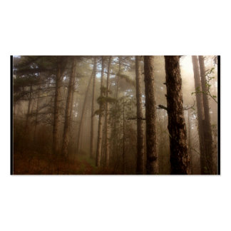 Forest Trees Natural Landscape Business Card Template