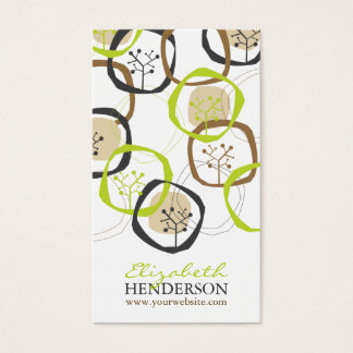 Forest Trees Rings Nature Woodland Country Modern Business Card