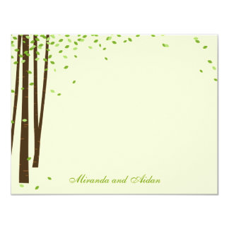 """Forest Trees Thank You Cards cards - Green - 4.25"""" X 5.5"""" Invitation Card"""