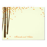 Forest Trees Thank You Cards cards - Orange - Custom Announcement