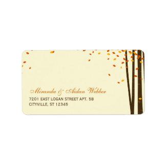 Forest Trees Wedding Address Labels Labels