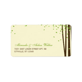 Forest Trees Wedding Address Labels Personalized Address Label