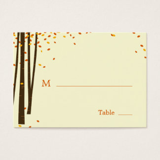 Forest Trees Wedding Flat Place Cards