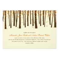 Forest Trees Wedding Invitation - Orange -