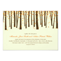 Forest Trees Wedding Invitation - Orange - at Zazzle