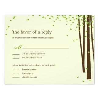 "Forest Trees Wedding Invitations - Green 4.25"" X 5.5"" Invitation Card"