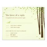 Forest Trees Wedding Invitations - Green Invite