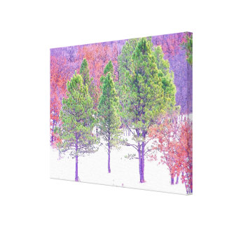 Forest Trees Woods Hiking Hiker Scenic Trails Canvas Print