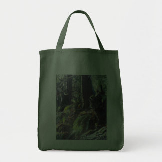 """forest """"troll"""" in the snow #2 tote bags"""