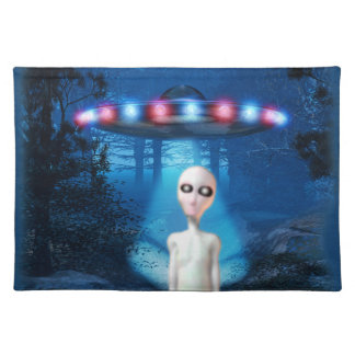 Forest UFO Close Encounter American MoJo Placemats