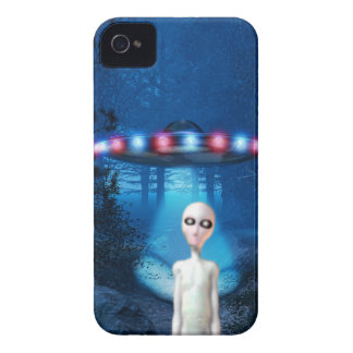 Forest UFO Close Encounter case iPhone 4 Cases