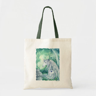 Forest Unicorn fantasy art budget tote bag