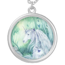 Forest Unicorn Fantasy necklace