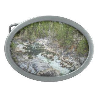 Forest Vein Oval Belt Buckles
