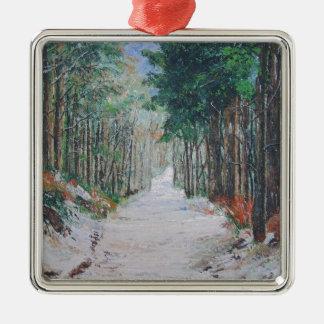 Forest walk, Yorkshire, England. Metal Ornament
