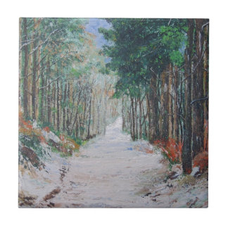 Forest walk, Yorkshire, England. Ceramic Tile