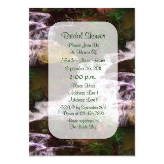 Forest Waterfall Painting Bridal Shower Invite