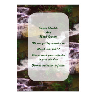 Forest Waterfall Wedding Save The Date Card