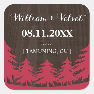 Forest Wedding Favor Stickers
