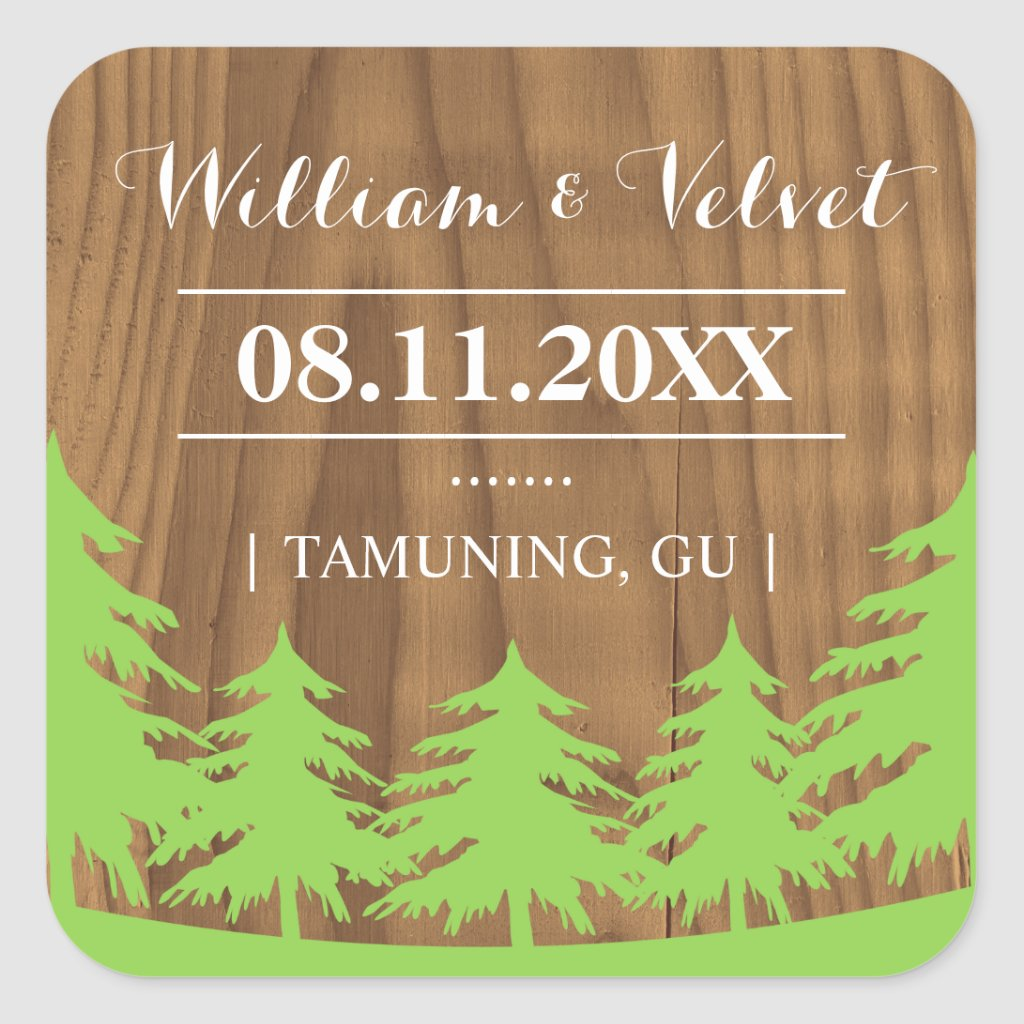 Forest Wedding Favor Stickers