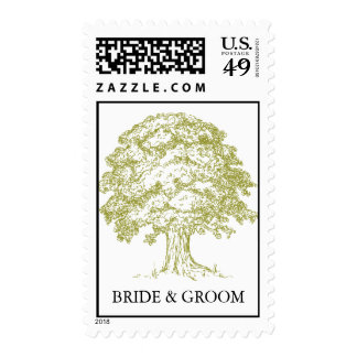 Forest Wedding Postage Stamps