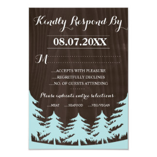 Forest Wedding Response Cards