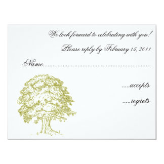 Forest Wedding RSVP 4.25x5.5 Paper Invitation Card