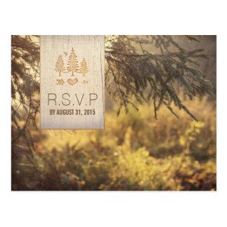 Forest Wedding RSVP Postcard