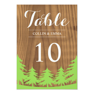 Forest Wedding Table Numbers