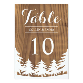 Forest Wedding Table Numbers Card