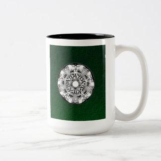 'Forest Wheel' Two-Tone Coffee Mug