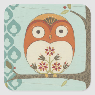 Forest Whimsy I Square Sticker
