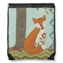 Forest Whimsy III Drawstring Backpack