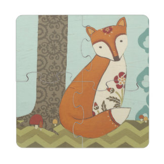 Forest Whimsy III Puzzle Coaster
