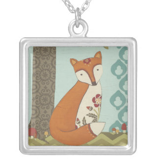 Forest Whimsy III Silver Plated Necklace