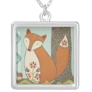 Forest Whimsy IV Silver Plated Necklace