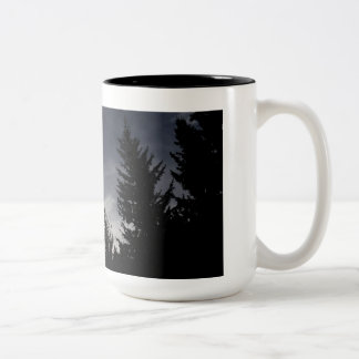 Forest Whisper Be Thy Name Two-Tone Coffee Mug