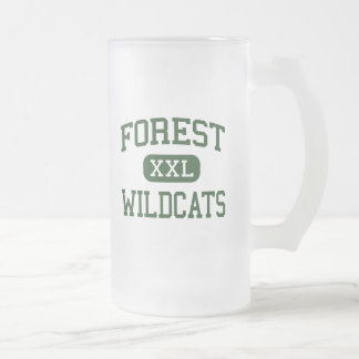 Forest - Wildcats - High School - Ocala Florida 16 Oz Frosted Glass Beer Mug