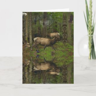 FOREST WILDLIFE Animal Clans Greeting Cards zazzle_card