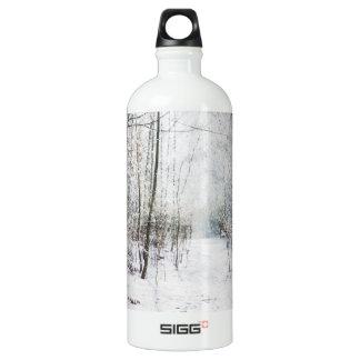 Forest Winter Wonderland Aluminum Water Bottle