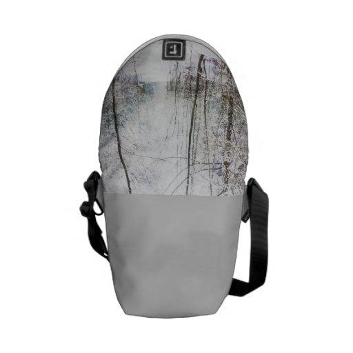 Forest Winter Wonderland mini messenger bag
