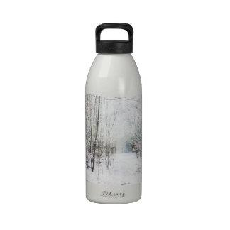 Forest Winter Wonderland Reusable Water Bottle
